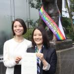【同姓婚】 「忠犬ハチ公」像にレインボーたすき…東京都渋谷区、同性カップルを結婚に相当する「パートナーシップ」と認める証明書を発行