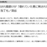 【埼玉】 道路で死んだフリの男性に話しかけた所、刺される