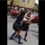 【閲覧注意】 女子高生同士の喧嘩→頭打って痙攣