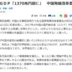 【中国GDP】 1370兆円に到達 来年にも日本の3倍になる模様
