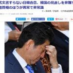 【悲報】日韓合意、公式文書も無く当初から見直しは予想されていた…韓国の見直しを非難する安倍首相のほうが異常で非常識と言われるwww
